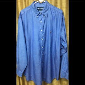 Ralph Lauren Blue Button Down Dress Shirt